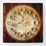 Coffee cup  coffee time square wall clock