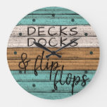 Funny Seaside Beachy Summer Quote Art Large Clock