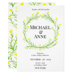 Romantic Wild Flowers | Wedding Invitation