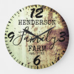 Rustic Farmhouse Distressed Vintage Antique Family Large Clock