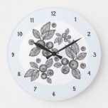 Elegant Country Farmhouse Berries Large Clock