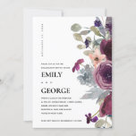 SOFT PEACH PURPLE LILAC FLORAL ENGAGEMENT INVITE