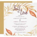 Fall in Love Golden Foliage Autumn Yellow Wedding Invitation