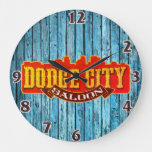 Old West Dodge City Saloon Wall Clock
