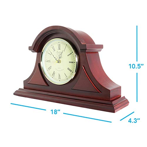 Clock Collection Redwood Mantel Clock with Chime