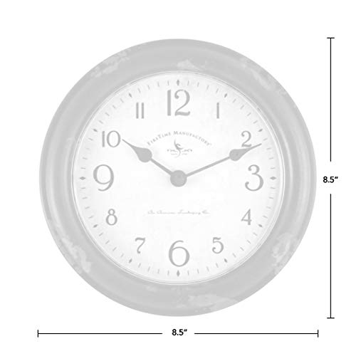 FirsTime & Co. FirsTime Red Patina Wall Clock, 8.5″