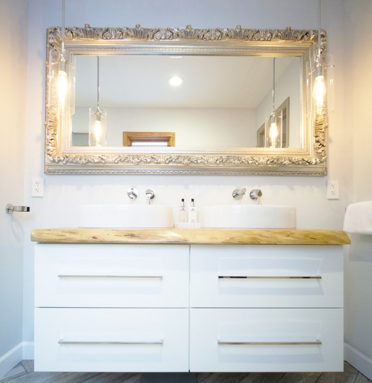 IKEA vanity hack - high-end look for less