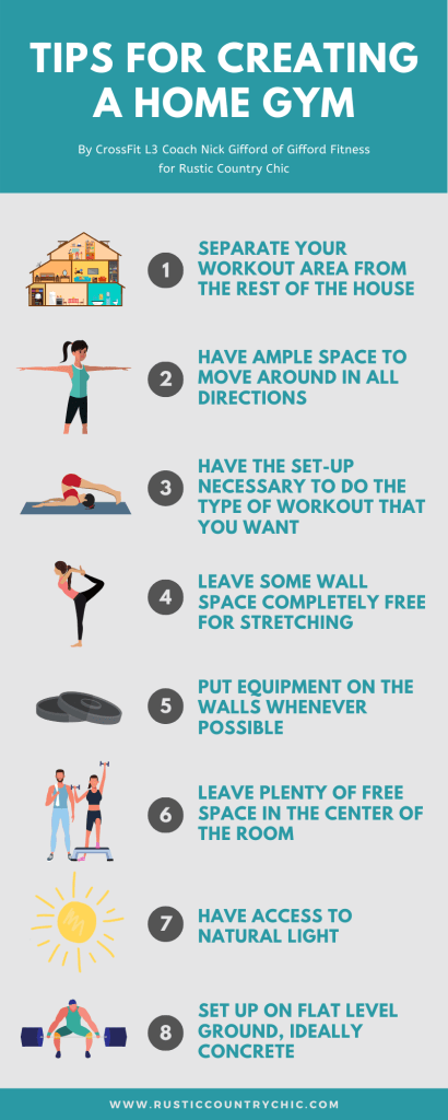 Infographic on how to set up a home gym