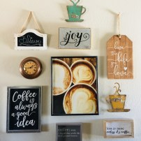My Coffee Collage Wall