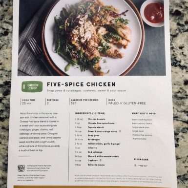 Green Chef Five - Spice Chicken Recipe