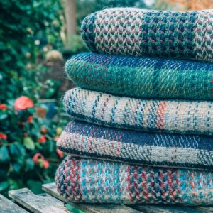 Set of twenty woollen blankets