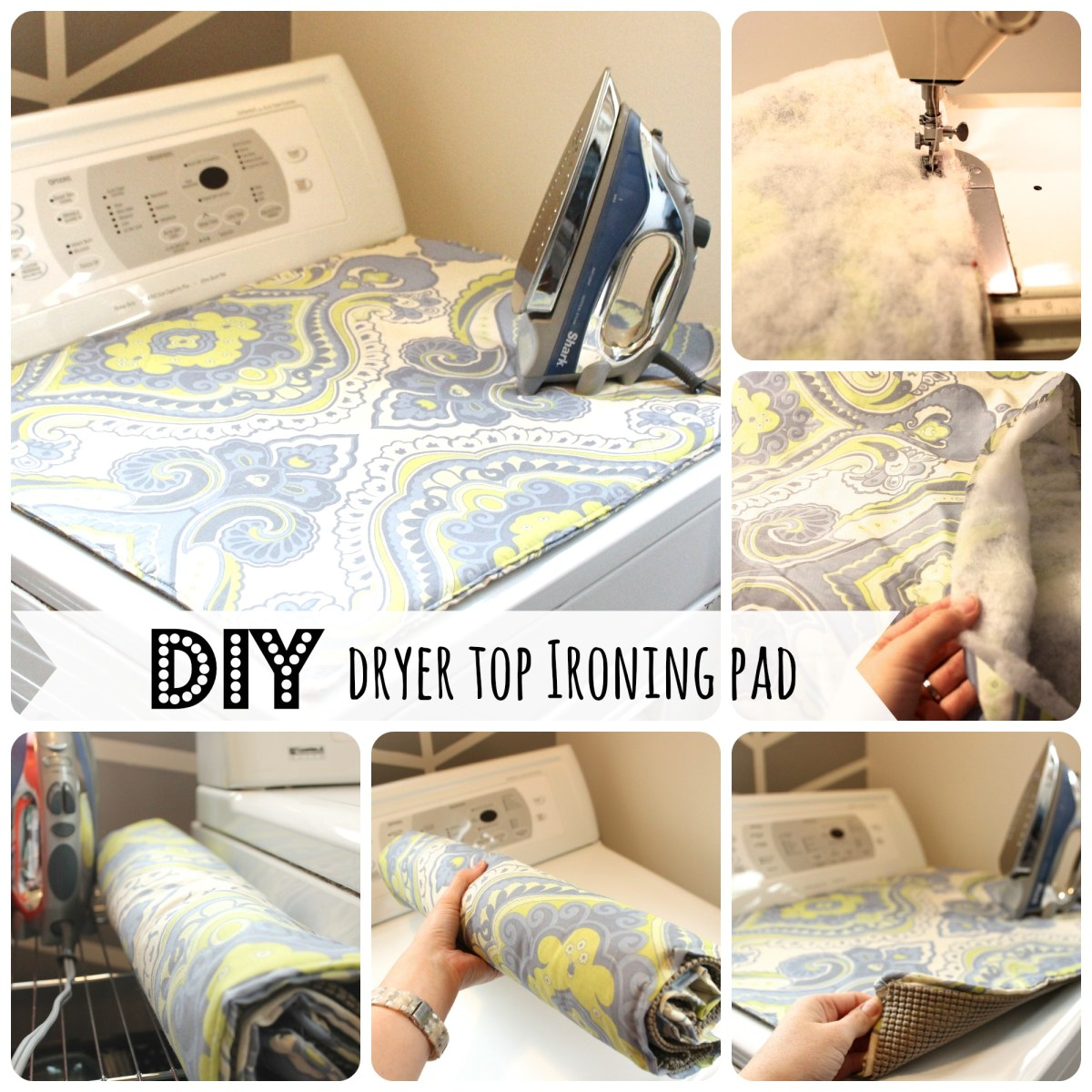 Space Saver: DIY Dryer Top Ironing Pad