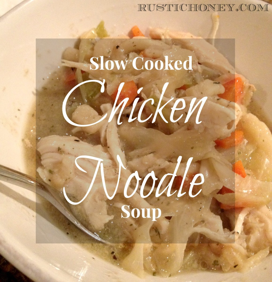 Slow Cooked Homestyle Chicken Noodle Soup