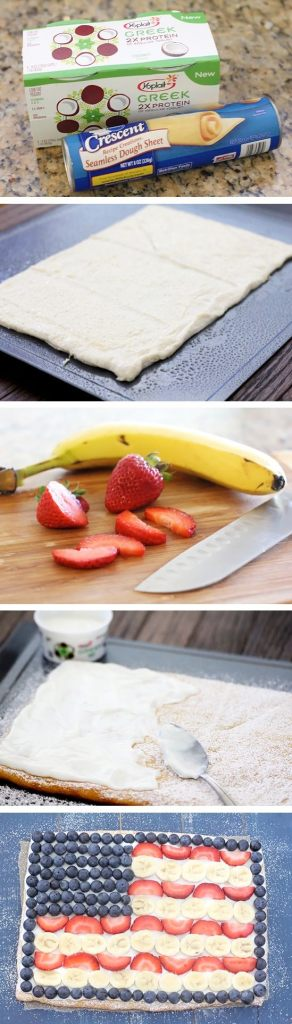Fruit-Flag-Pizza-Recipe-By-Photo