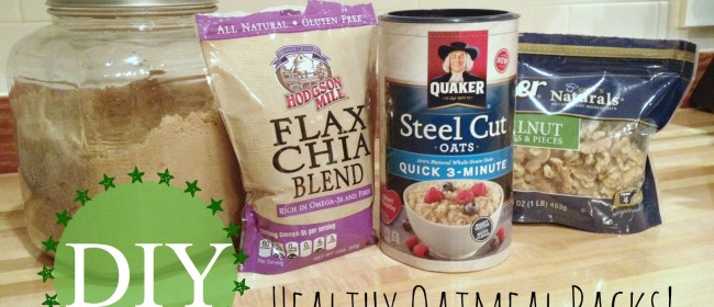 DIY Convenience Food: Healthy Oatmeal Packs