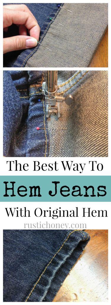 diy hem your jeans like a pro rustic honey. Black Bedroom Furniture Sets. Home Design Ideas