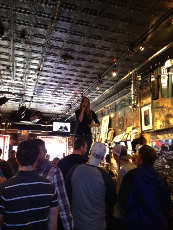 Dancin' and Singin' on the bar and it is only 10 a.m.!