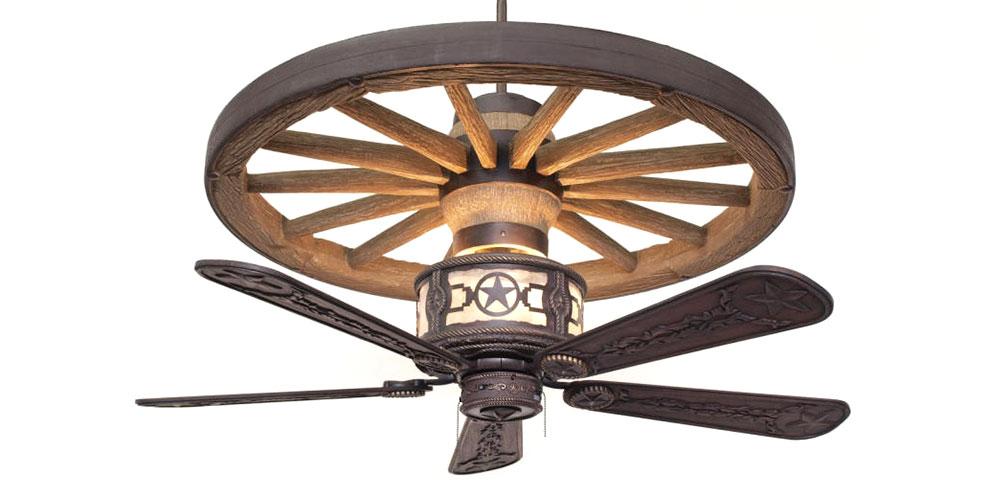 sheridan wagon wheel ceiling fan