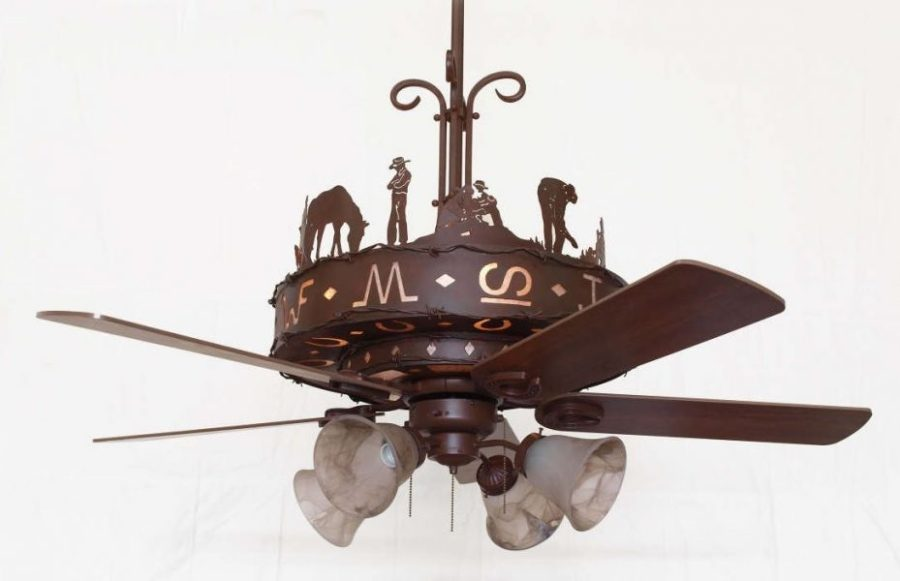 Copper Canyon Western Trails Ceiling Fan   Rustic Lighting and Fans Copper Canyon Western Trails Ceiling Fan
