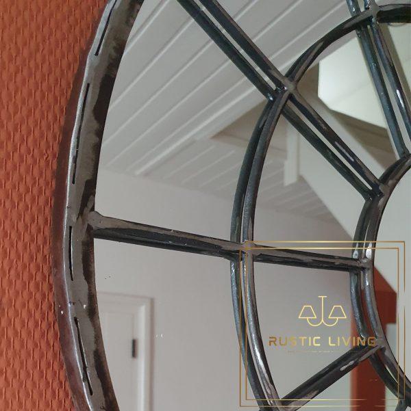 industriele spiegel 60 cm metaal onbewerkt