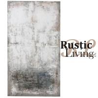 Schilderij abstract wit grijs roze 100x180cm