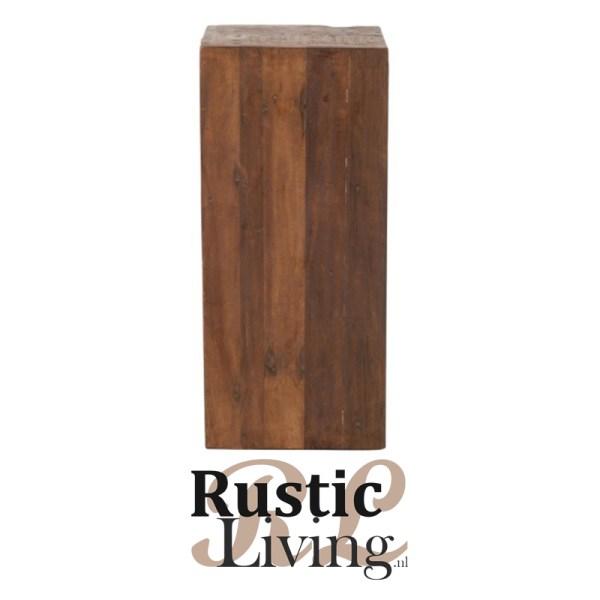 kast 12 lades brut gerecycled hout bruin