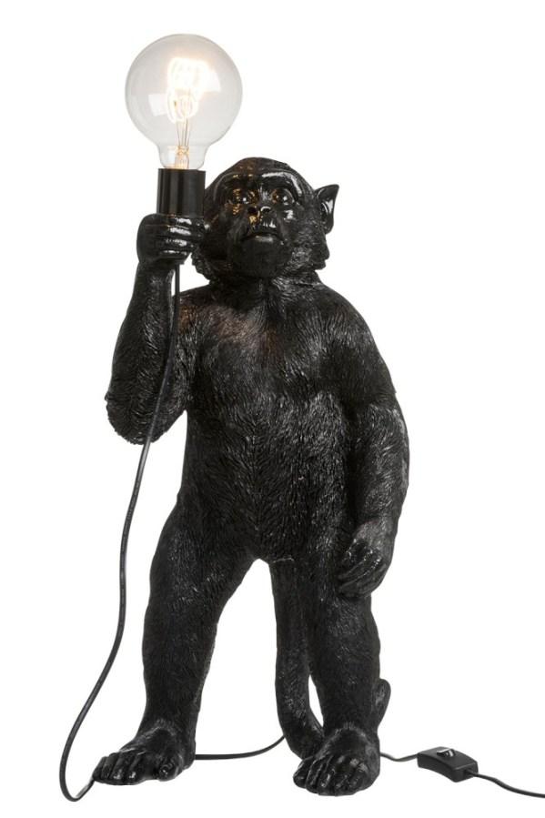 tafellamp aap zwart polyresin E27