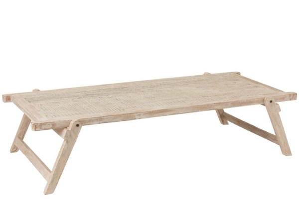 Tafel Militair Bed Gerecycleerd Hout White Wash
