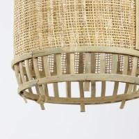 hanglamp Alifia bamboe webbing naturel rond