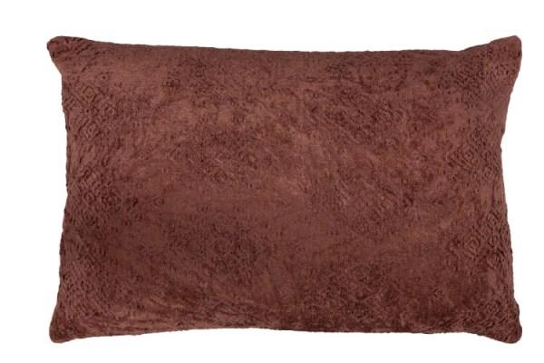 kussen Fayola langwerpig katoen roze terracotta