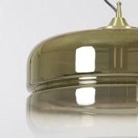 Hanglamp Cherle goud glas mat goud zwart xl