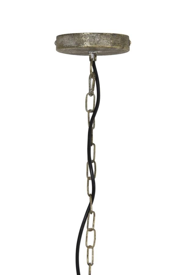 Hanglamp Lavello antiek goud wit metaal 33x46