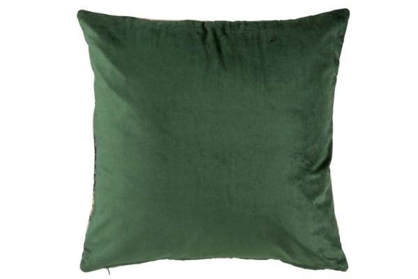 Kussen Blad Fijn Viscose Groen/Paars