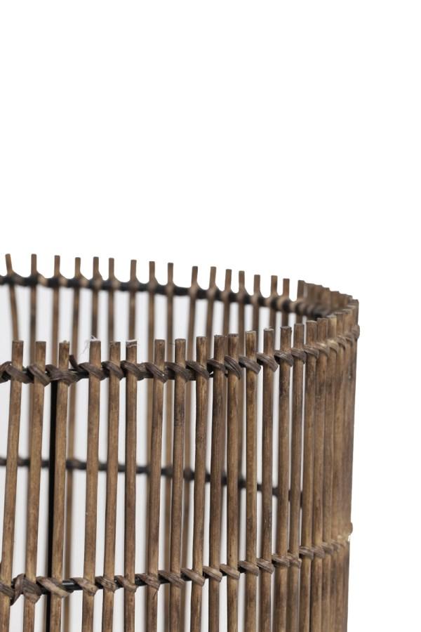 Kap cilinder Ø40x35 cm RODGER bamboe bruin