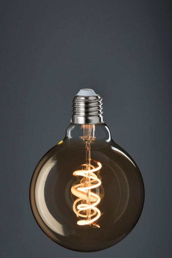 Ledlamp g95 Amber Spiral e27