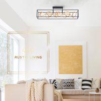 plafondlamp Selina traploos dimmen lichtstaven goud metaal zwart