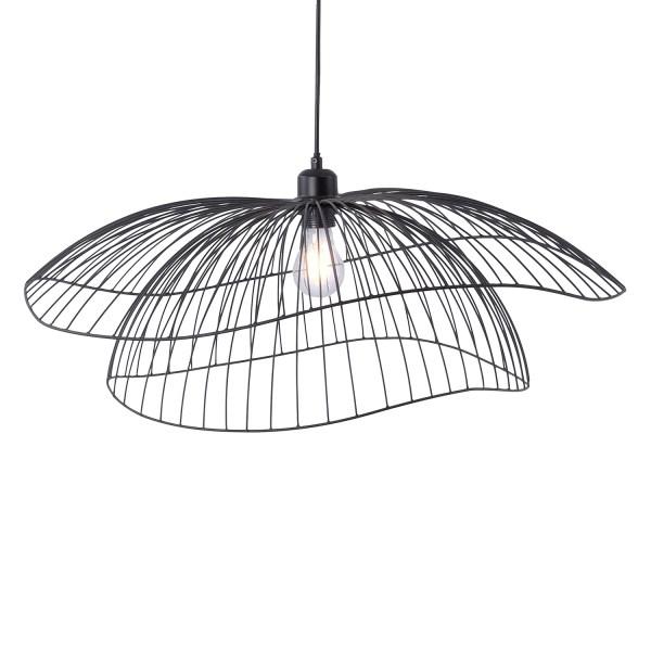 hanglamp fabio metaal zwart gebogen lampenkap modern