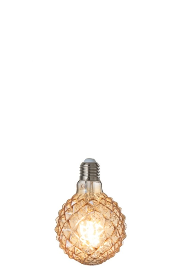 Ledlamp Amber g80 Filament Geometrical e27 (96306)