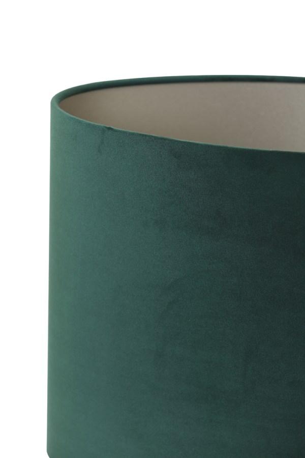 lampenkap ovaal recht velours dutch green