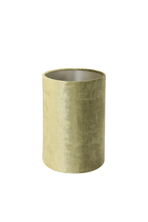 lampenkap ovaal recht velours olijf groen