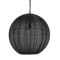 hanglamp amarah mat zwart metaal 50cm