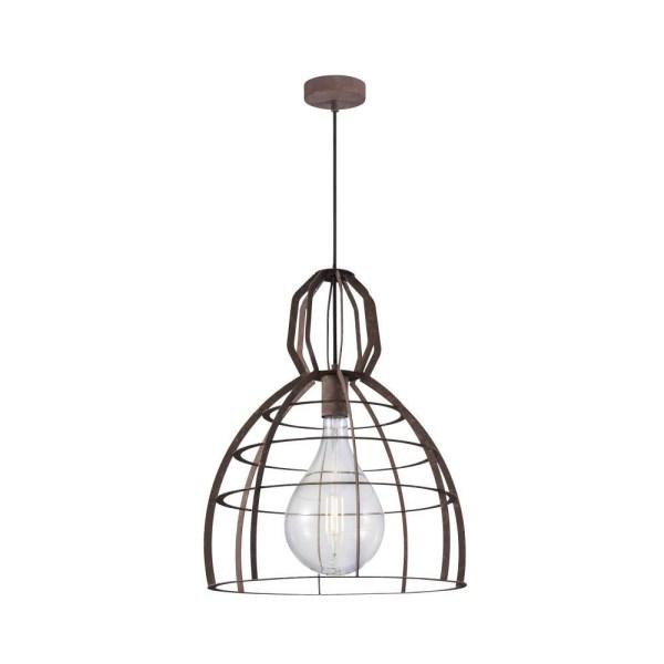 Roestkleurige kooihanglamp met een rustieke retro-look