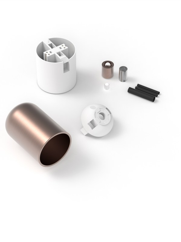 Calex lamphouder E27 aluminium 40mm mat koper, alu kabel klem, max.250V-60W