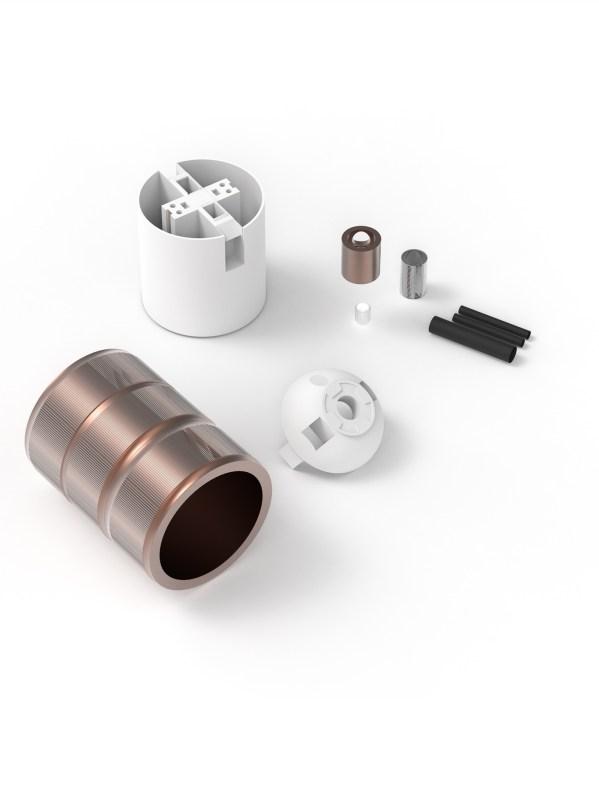 verlichting accessoires fitting 3 rings aluminium E27 koper