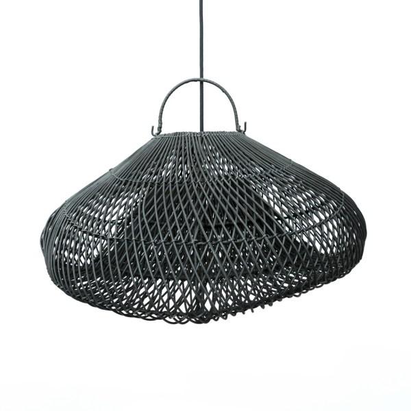 hanglamp the cloud rotan mat zwart
