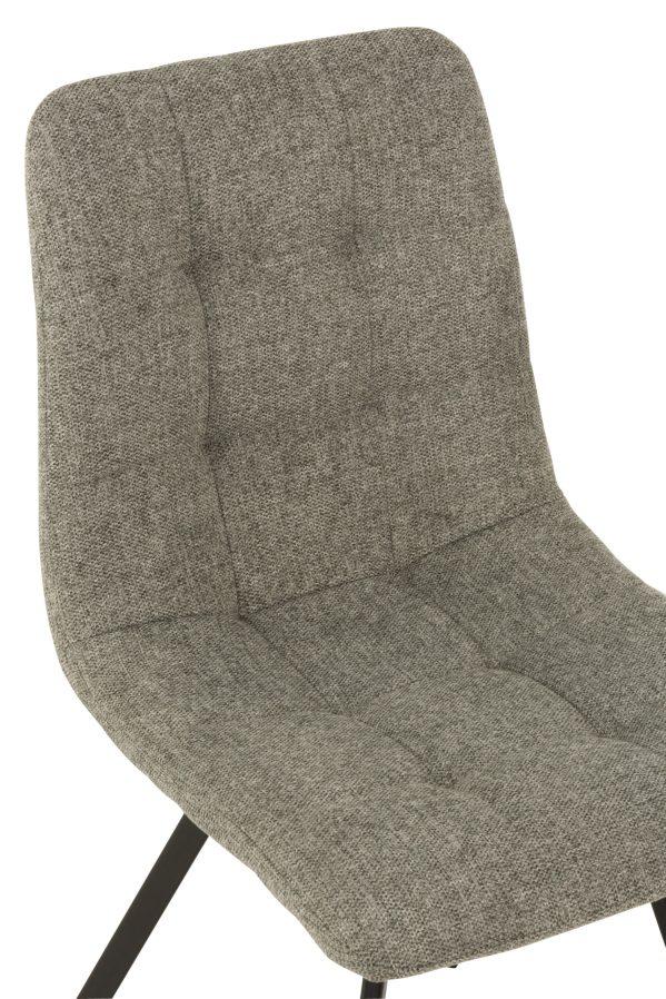 Stoel Babette Textiel Metaal Grijs