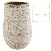 Bloempot Maya Extra Palmhout Wit