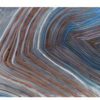Schilderij Golven Blauw Bruin Grijs