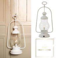 Lamp Led Lantaarn Hoog Handvat Metaal Glas Wit