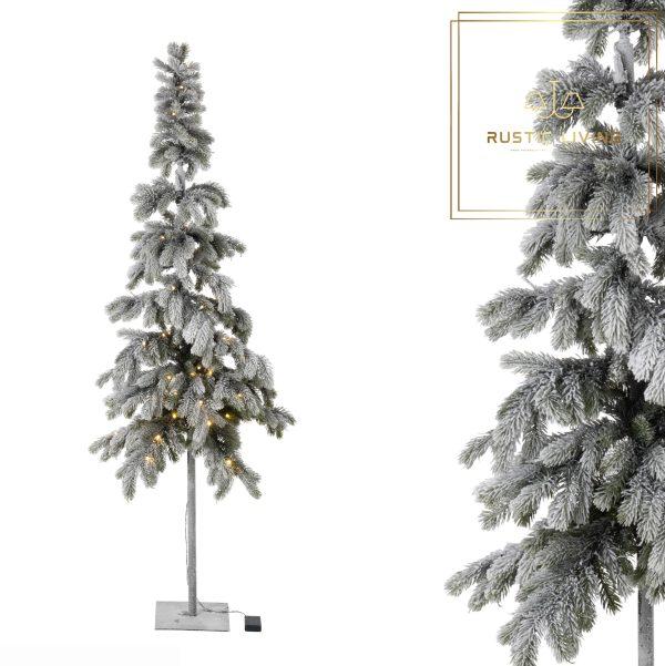Kerstboom Led Plastiek Groen Sneeuw batterijen